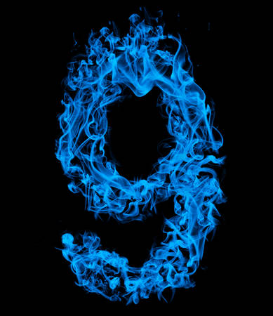 Number nine blue fire