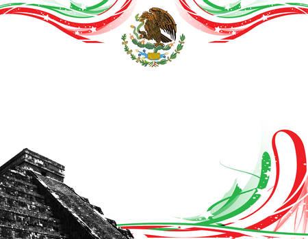 Mexico with pyramids
