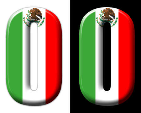 Number zero with the Mexican flag