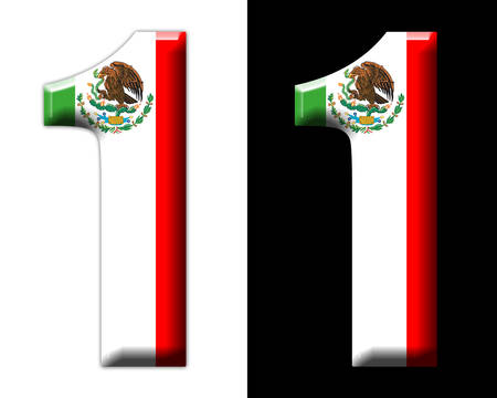 Number one with the Mexican flag