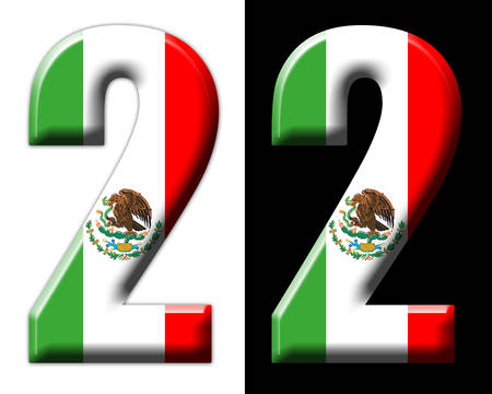 Number two with the Mexican flag