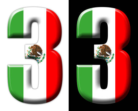Number three with the Mexican flag