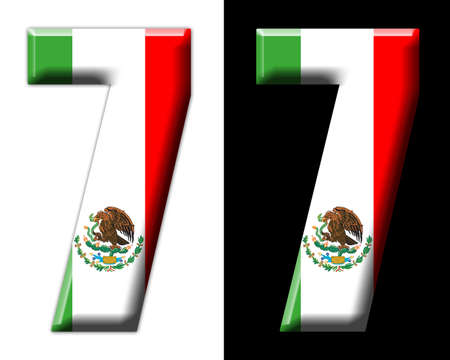 Number seven with the Mexican flag