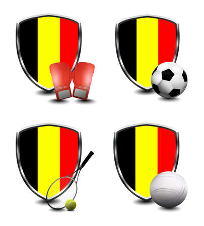 Belgium Flag with sporting articles Banque d'images - 109073707