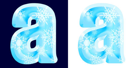 Winter Alphabet Letter a Reklamní fotografie