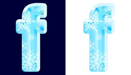 Winter Alphabet Letter f Reklamní fotografie