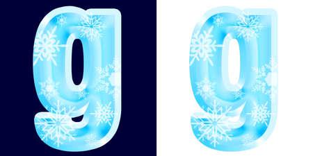 Winter Alphabet Letter g Reklamní fotografie
