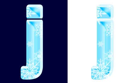 Winter Alphabet Letter j