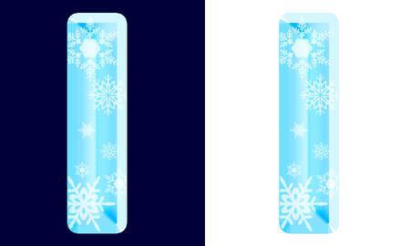 Winter-Alphabetbuchstabe l