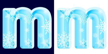 Winter Alphabet Letter m Stock Photo