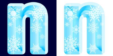 Winter Alphabet Letter n Reklamní fotografie