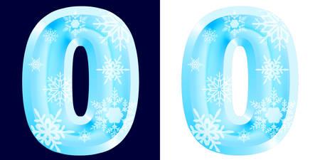 Winter Alphabet Letter o