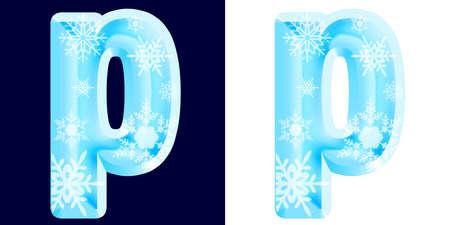 Winter Alphabet Letter p