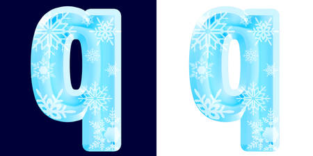 Winter Alphabet Letter q