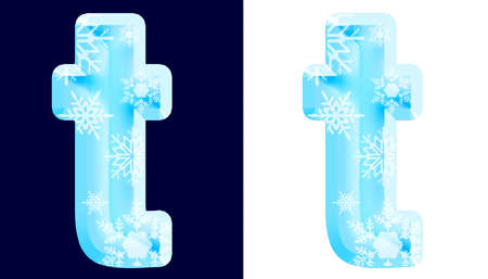 Winter Alphabet Letter t