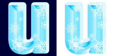 Winter Alphabet Letter u