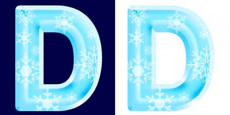 Winter-Alphabetbuchstabe D Standard-Bild