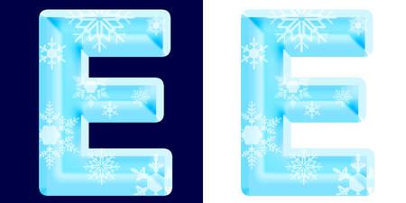 Winter Alphabet Letter E
