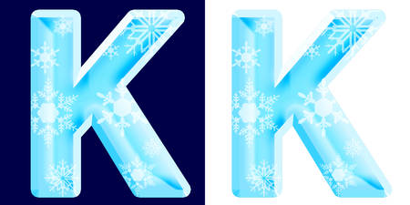 Winter Alphabet Letter K Reklamní fotografie