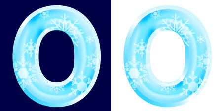 Winter Alphabet Letter O Banco de Imagens