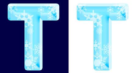 Winter Alphabet Letter T Фото со стока