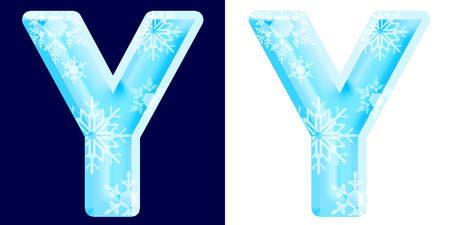 Winter Alphabet Letter Y
