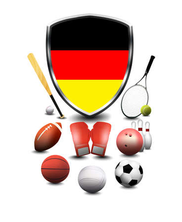Germany Flag with sporting articles Flag with sporting articles