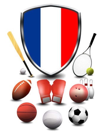 France Flag with sporting articles