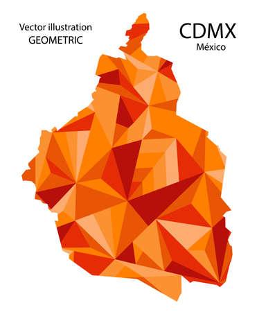 Mexico City map. geometric.