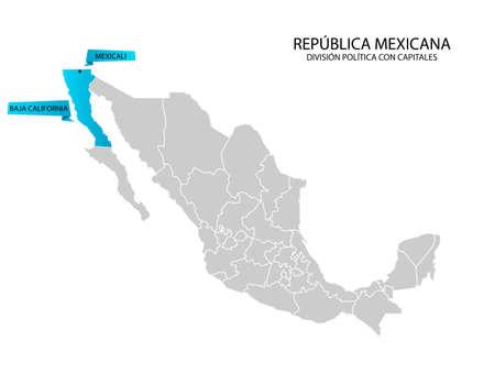 Mapa de México, Baja California Norte