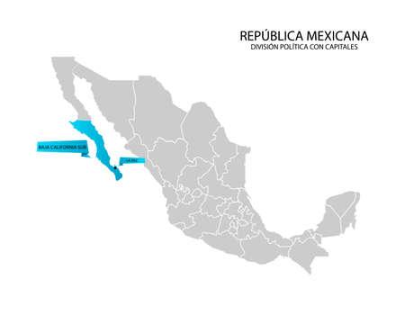 Mapa de México, Baja California Sur