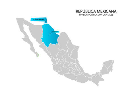 Mexico map, State of Chihuahua