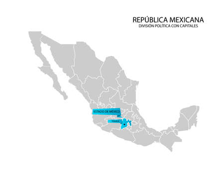 Mexico map, State of Mexico