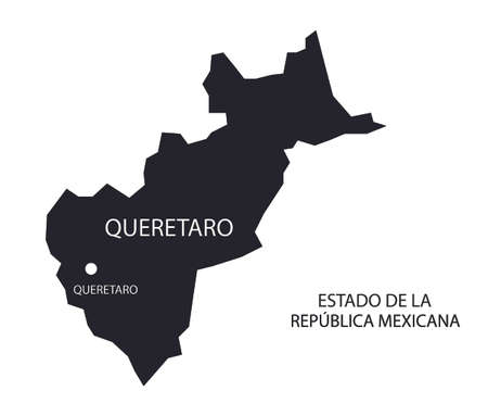 State Queretaro, Mexico, vector map