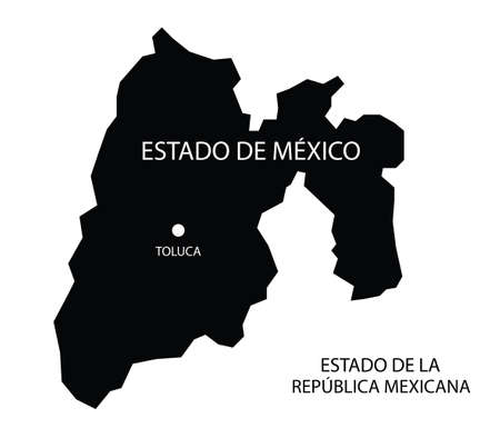 State of Mexico, Mexico, vector map
