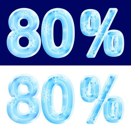 80%, eighty percent, design ice.