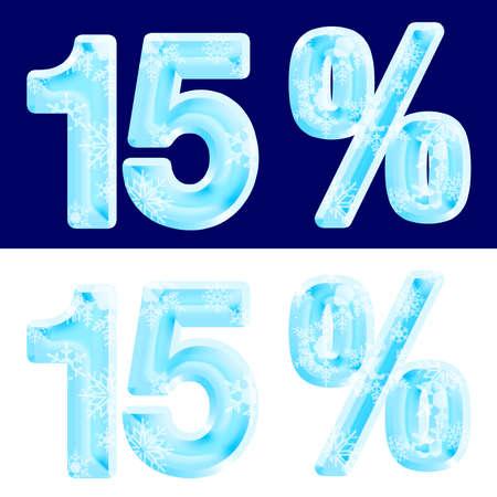 15%, fifteen percent, design ice.