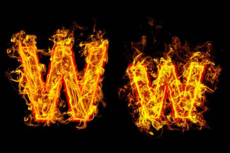 Fire burning letter