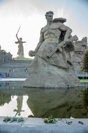 major battle: Mamaev kurgan. Hero City Volgograd, Russian Federation.