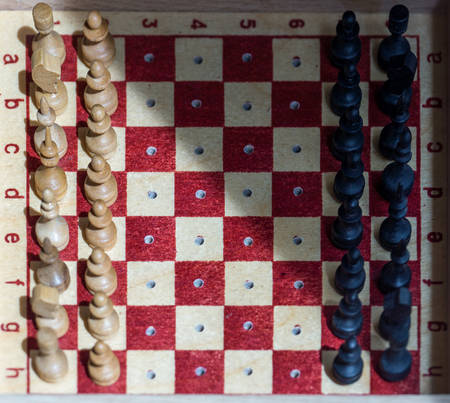 mental object: Road chess. Gift Set. Stock Photo