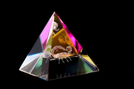 Glass pyramid Stock Photo