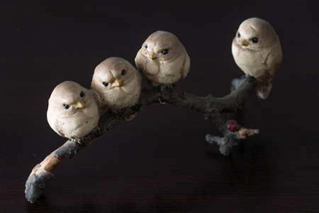 Sparrows figurine Stock Photo