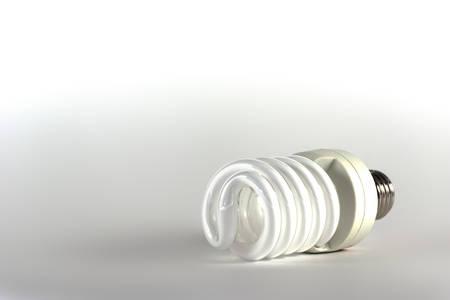 kilowatt: Energy saving light bulb. Modern lighting method.