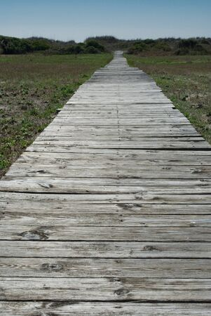 Old boardwalk to the beach