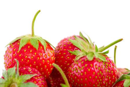 srawberries: Fresh srawberries isolated on white