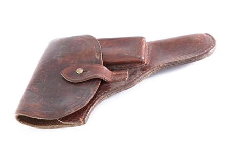 holster: Funda de piel retro, utilizado en el mundo WarII