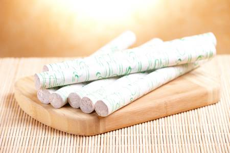 moxibustion: Professional moxa sticks Stock Photo