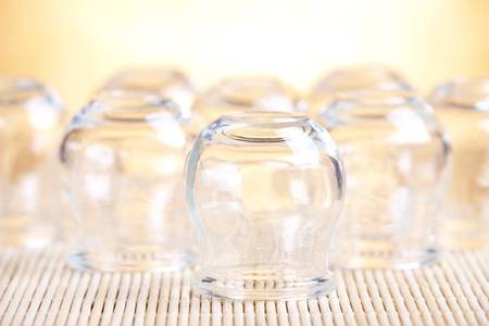 Cupping glass, photo with shallow depth of field