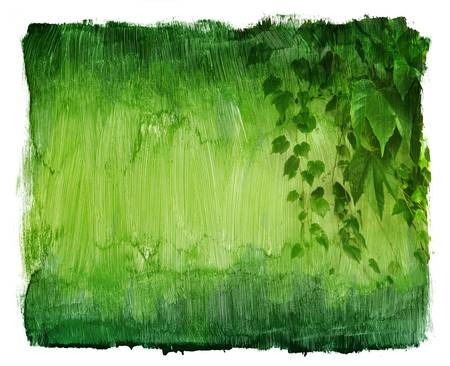Vintage texture green background with ivy photo