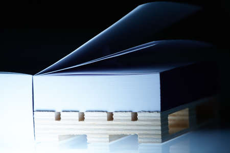 Ream of paper on the bottom deck board Stock Photo - 12777110